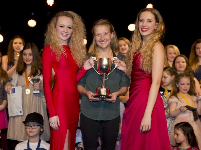 Dancer of the Year Winners - Amy Williamson and Caley Merchant with Ashleigh Cheadle