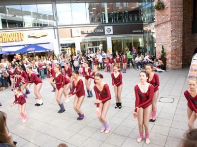 Juniors at Regent Arcade Cheltenham for Fame Day
