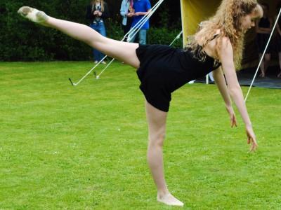 Molly Beebee dancing at South Cerney Village Fete