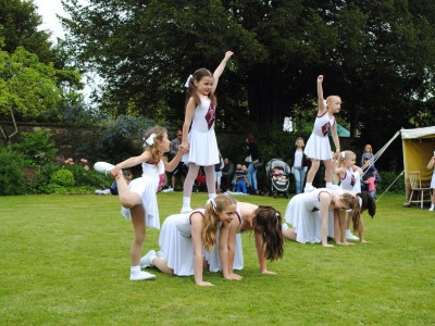 Cheerleaders at South Cerney Village Fete