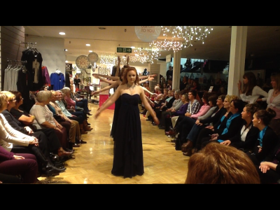 Seniors on the Catwalk for Rackhams Fashion Show